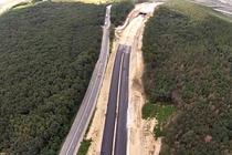 Primul tunel de autostrada din Romania (Sacel)), in constructie