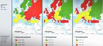 Comparativ: Harta pretului la combustibili si a salariului mediu in Europa