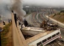 Tren deraiat in Spania