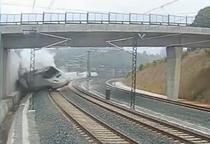 Primele imagini cu accidentul de tren din Spania