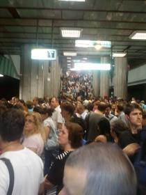 Statia de metrou Titan, miercuri dimineata