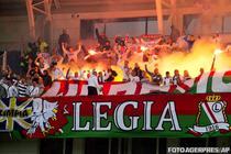 Suporterii echipei Legia Varsovia