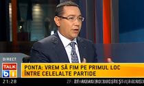 "Victor Ponta la ""Talk B1"""