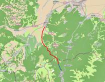 Drum Busteni - Rasnov: existent - DC 132 (albastru) si propus (cu rosu)