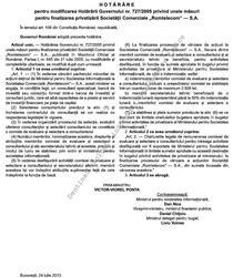Hotararea privind Romtelecom din Monitorul Oficial
