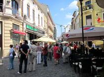 Turisti in Centrul Vechi