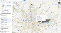 Informatii despre transportul public din Bucuresti in Google Maps