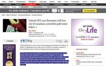 Declaratia lui Jonathan Henry pe site-ul The Globe and Mail