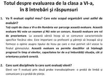 Evaluarea la clasa a VI-a - Brosura