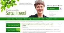 Blogul eurodeputatei Satu Hassi