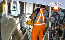 Montarea primelor inele de tunel pe santierul metroului din Drumul Taberei