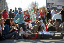 Fotogalerie: Protest fata de eutanasierea cainilor comunitari