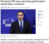 Victor Ponta in Reuters