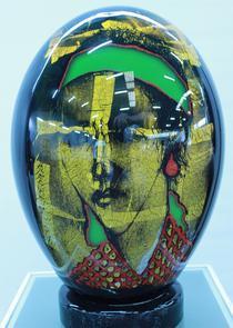 Mihai Topescu: 'Portret de fata cu panglica verde'