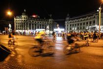 Protest inedit pe biciclete
