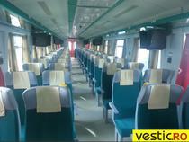 Interiorul unui vagon destinat Braziliei