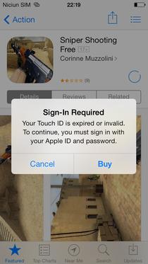 Eroare la descarcarea din App Store