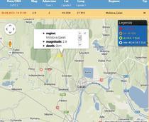 Zona unde a avut loc cutremurul din Galati