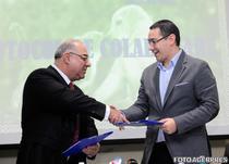 Marius Marinescu si Victor Ponta, la semnarea protocolului de colaborare