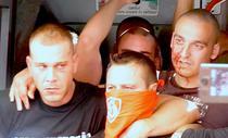 Violente cu fanii maghiari in centrul Capitalei