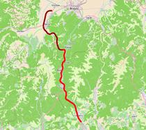 Traseul orientativ al autostrazii Comarnic - Brasov