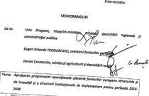 Fragment din Memorandumul celor 3 ministri, din aprilie 2013
