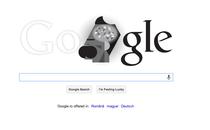 Logo-ul Google care il celebreaza pe Friedrich Nietzsche