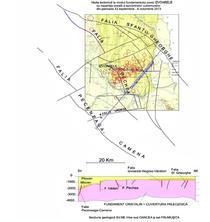 Harta tectonica si sectiunea geologica in zona Izvoarele, jud Galati