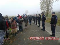 Protestul locuitorilor din Pungesti