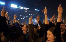 Mesajul protestatarilor in Piata Victoriei