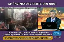 "Transmisia OTV sambata, cu mesajul ""Ne puteti vedea si pe satelitul EUTELSAT 16 grade EST"""