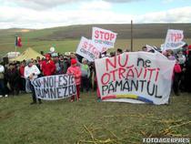 Protest la Pungesti, 19 octombrie