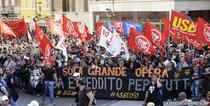Proteste anti-austeritate la Roma