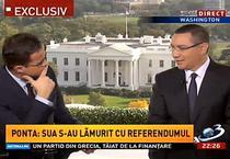 Victor Ponta, interviu de la Washington