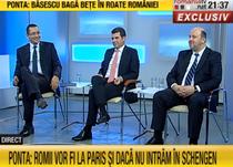Ponta, Constantin si Chitoiu, la RTV
