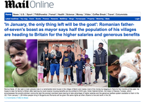 Prima pagina a Daily Mail