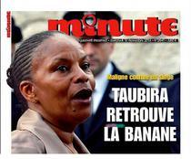 Christiane Taubira, comparata cu o maimuta, de o revista de extrema dreapta