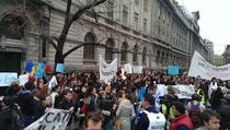 Protestele studentilor la Universitate