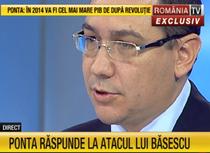 Victor Ponta, la RTV