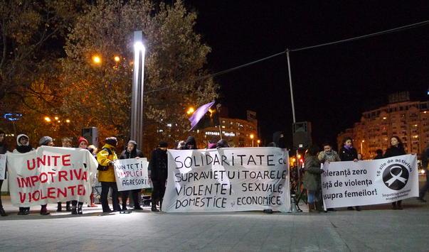 Protest in Piata Unirii