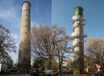 Turnul de apa din Pantelimon inainte si dupa