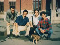 Stefan Morcov in perioada liceului (al doilea de la stanga)