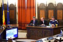 Traian Basescu, videoconferinta cu militarii de 1 decembrie