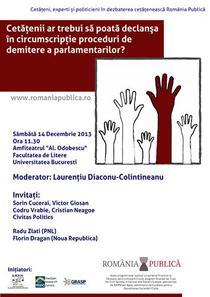 Afisul dezbaterii Romania Publica