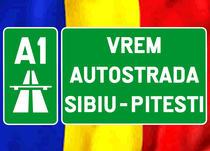 Protestul forumistilor pentru autostrada Sibiu- Pitesti