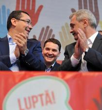 Victor Ponta, Dan Sova si Liviu Dragnea