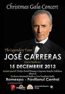 Concert Jose Carreras la Bucuresti