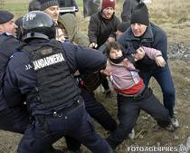 Protestatar ridicat de jandarmi la Pungesti