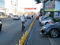 Masinile care obstructioneaza circulatia pe pista de biciclete