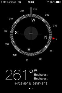 Busola pe terminalele iOS